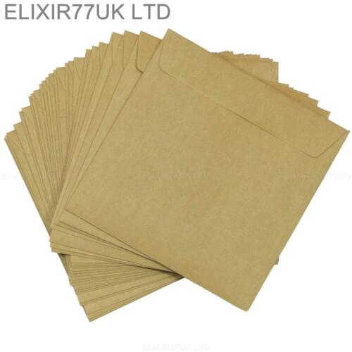 C5 A5 C6 C7 DL SQUARE KRAFT BROWN ENVELOPES CRAFT MAKING CARDS PAPER WEDDING LOT