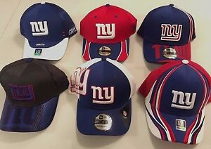 c938457a3d3 NEW YORK GIANTS AUTHENTIC FLEX FIT FITTED NFL CAPS REEBOK OR NEW ERA ...