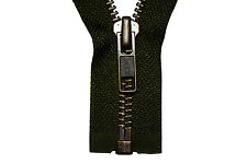 YKK Reißverschluss 1 Wege teilbar 5mm kakigrün 75 cm Metall Metallzähne