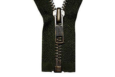 YKK Reißverschluss 1 Wege teilbar 5mm hellgrau 65 cm Metall Metallzähne