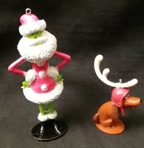 Dr Seuss The Grinch who Stole Christmas Ornament set Ornaments Max Reindeer 2018