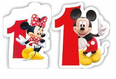 Amazing Happy Birthday Minnie Mickey Mouse Candle Number 1 1St First Funny Birthday Cards Online Aboleapandamsfinfo