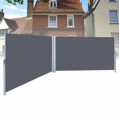 180*600 Seitenmarkise Sonnenschutz Seitenrollo Markise Windschutz Terrasse Grau