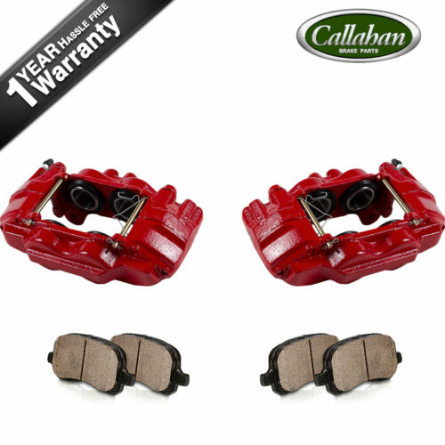 Front Red Brake Calipers /& Ceramic Pads For 03-09 4 Runner 05-16 Tacoma