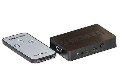Dolce Hdmi Commutatore Di Distribuzione Switch 3x In Su 1x Out Full Hd 3d Incl. Telecomando-