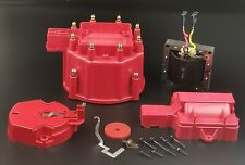Hei Distributor Red Cap With Rotor Amp Coil Cove Kit65k Volt Coil For V8 Pontiac