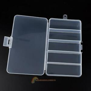 Plastic-5-Compartments-Fishing-Lure-Bait-Hook-Tackle-Storage-Box-Case-Container