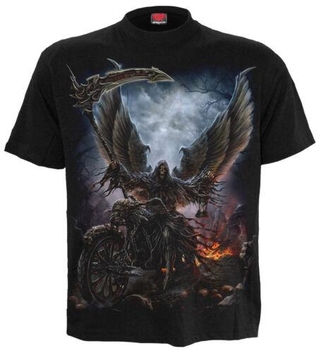 SPIRAL DIRECT RIDE OR DIE T-Shirt,Tee//Top// Biker//Grim Reaper//Skull//Skeleton//WING