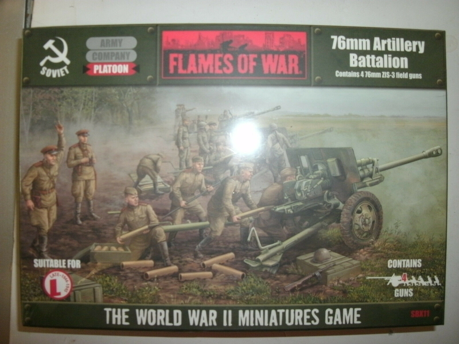 Flames Of War SBX11 76mm Artillery Battalion BNIP