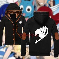 Anime Fairy Tail Guild Emblem Natsu Jacket Sweatshirt Hoodie Unisex Coat#T--006