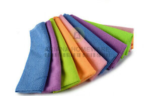 Pack of 10 Microfibre Cleaning Cloths Dusters Car Bathroom Polish Towels