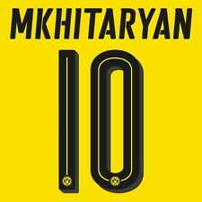 BVB 09 Borussia Dortmund MkhytarianPlayer Flock 25cm f.PUMA Home Trikot 2016-17