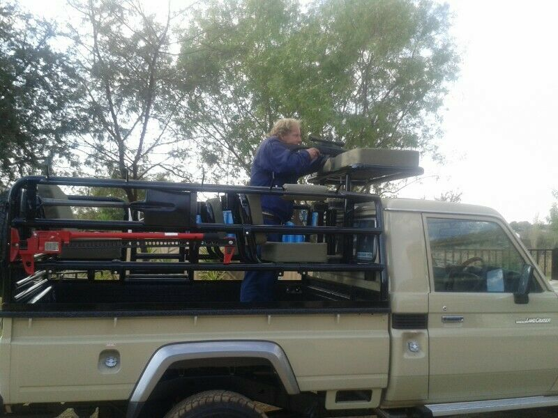 Cruiser single cab hunting frame with access ladders