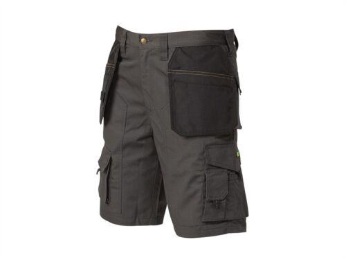 APACHE aparipsg Work Wear POLYCOTTON RIP-STOP FONDINA Pantaloncini-Grigio o pietra