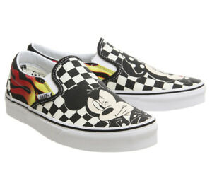 776bf2e4ab Vans Kids Youth x Disney Mickey   Minnie Mouse Classic Slip-On Shoes ...