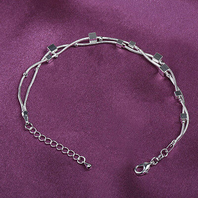 Silver plated Barefoot Sandal Beach Casual Anklets Ankle Bracelet Foot Chain