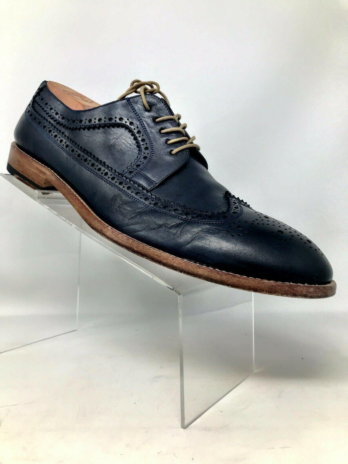Gordon Rush bluee Wing Tip Brogue Leather Men 12
