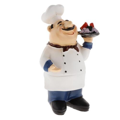 Cook statue Résine Décoratif D/'ornement français chef des personnages pour
