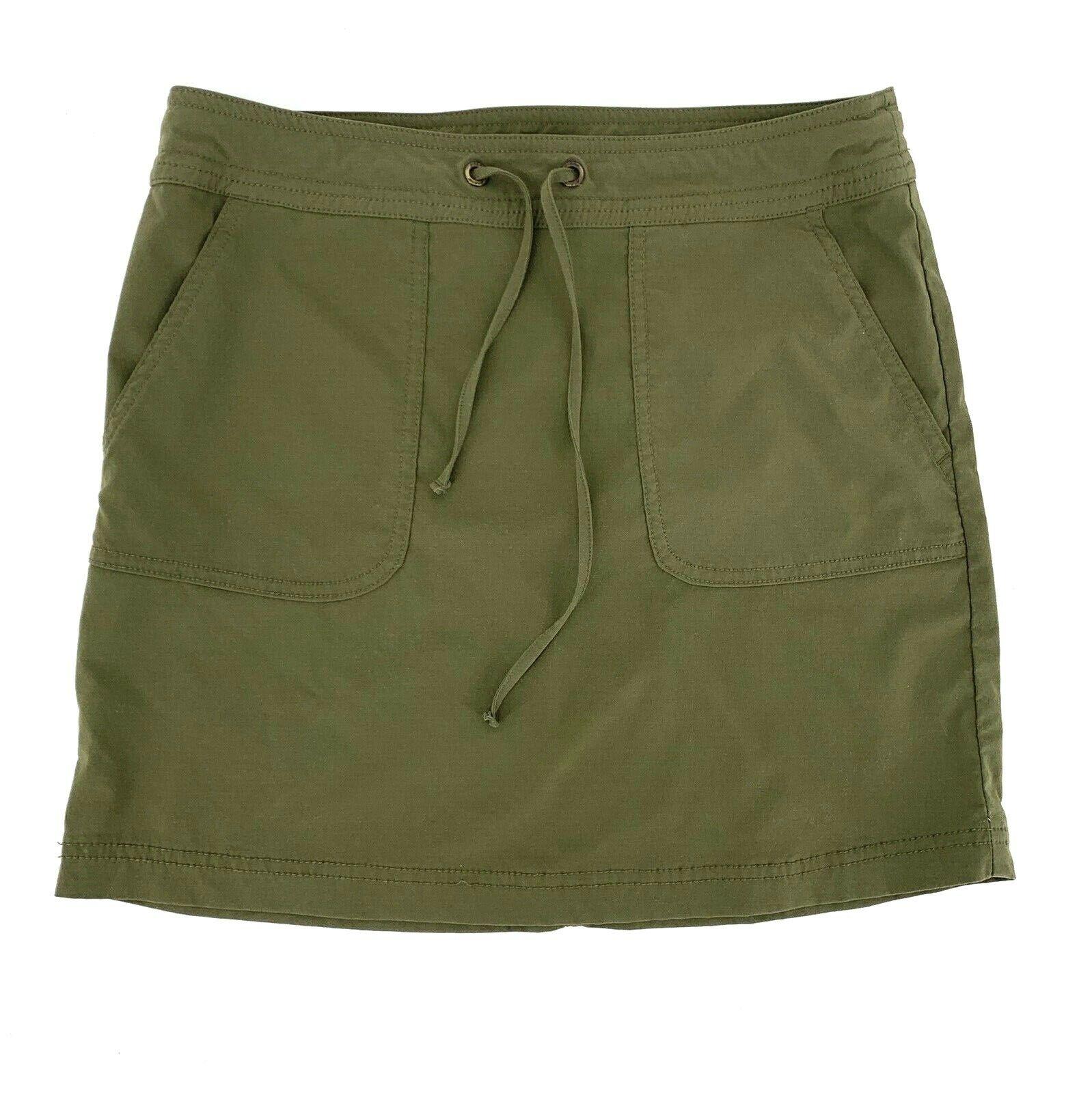 PRANA Bliss Skirt Women's Green Nylon Spandex Drawstring Waist Active A-Line XS