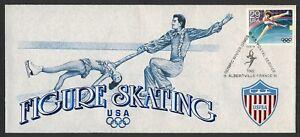 1992 Invierno Olympics-Figure Skating-19 Feb 92 , USPS Cachet Cualquier 5=
