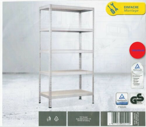 Metal-HEAVY DUTY-SHELF Galvanised 5 MDF shelves a 175kg Workbench Garage 180x90x40