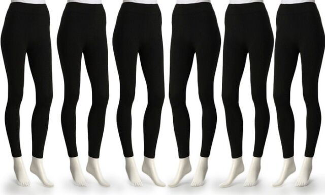 e1ad0e803e1de Premium 6pack Fleece Lined Leggings Cozy Yoga Pants Size M-l Full Stretch  Length