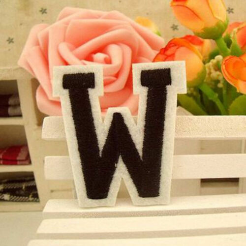 Letter A-Z Embroidered Iron On Patch Sew Motif DIY Applique Fabric Crafts OZ