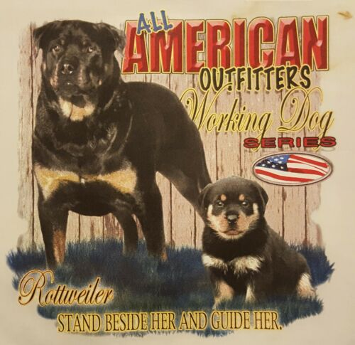 AMERICAN OUTFITTERS WORKING DOG ROTTWEILER ROTT #584 POCKET SHIRT