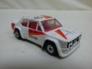 Vintage-1982-Lesney-Matchbox-No-45-Fiat-Abarth-131-Diecast-White-Toy-Rally-Car