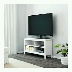 Image Is Loading TV Stand White Entertainment Furniture Media  Console Center