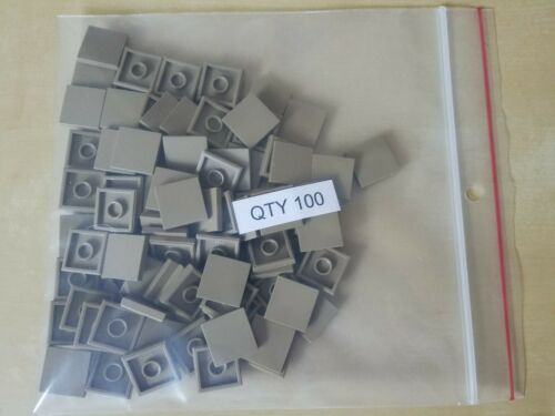 Lego 100 New 2 X 2 Dark Tan Tile