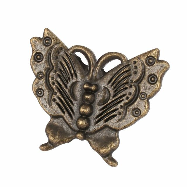 5PCS Bronze Cupboard Door knobs Butterfly Drawer Pull ...