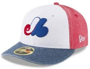 Official MLB Montreal Expos Bro Cap New Era 59FIFTY Low Profile ... 45ce4c56ef4