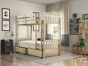 Strictly Beds and Bunks 2ft 6 Small Single Storage Under Drawer Bunk Bed (EB93)