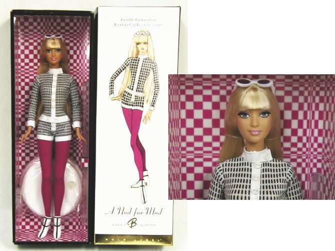 Barbie - a Nod para Mod - oro Etiqueta - Collectors Club Exclusivo - NRFB