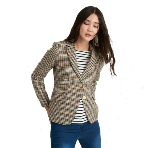 ** RIDOTTO ** Joules Giacca in Tweed Aster Check Rosa