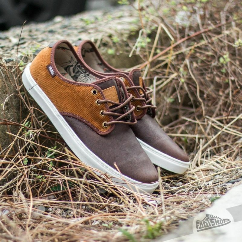 VANS OTW COLLECTION LUDLOW SHOES DUCK HUNT BROWN WHITE SHOES LUDLOW Uomo SZ 8 LEATHER 692ac6