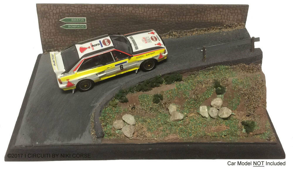 'Hairpin Corner' Rally 1 43 Scale Handcrafted Lightweight Model Display Base