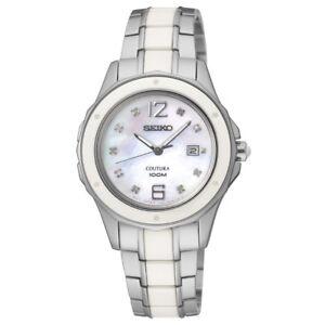 Seiko SXDE85 SXDE85P1 Coutura Ladies Ceramic Diamond Watch  RRP $995.00