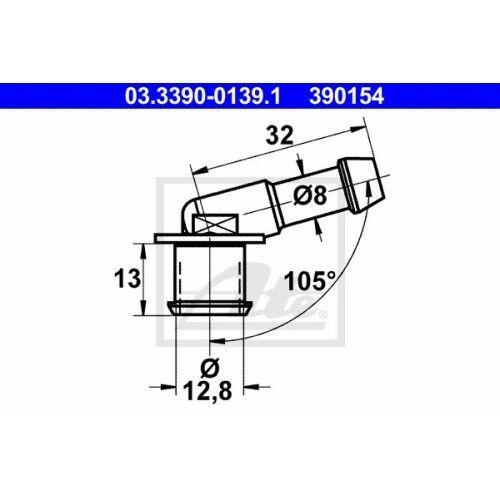 Tuyau Ligne 03.3390-0139.1 UAT Port ajuster