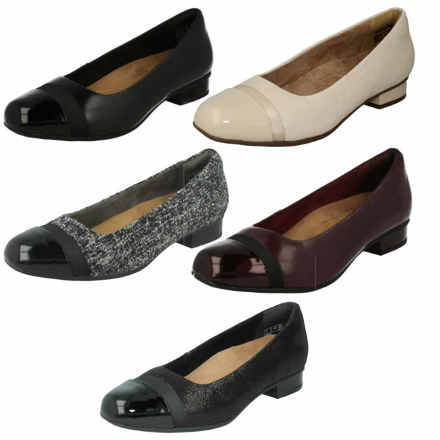 4140c1da85 LADIES CLARKS UNSTRUCTURED LEATHER WIDE FIT BALLERINA CASUAL SHOES KEESHA  ROSA