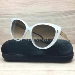 5ee4bb0604e Gucci GG 3804 S GG3804 S Sunglasses Off White Gold U29 JD Authentic ...
