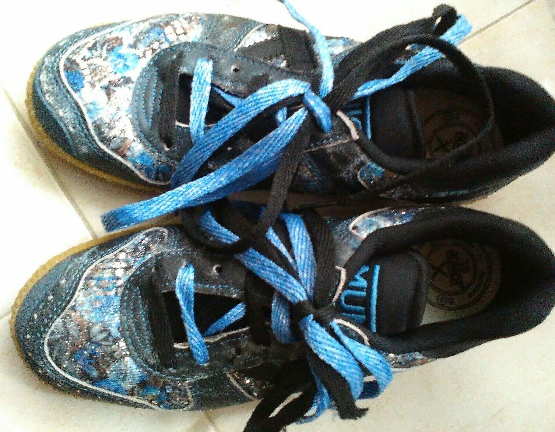 SCARPA SNEAKERS women MARCA MUNICH  LUREX blue NR.36