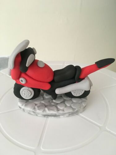 Motorbike and Rider Themed Cake Topper Decorations