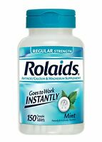Rolaids Regular Strength Tablets, Mint 150 Each on Sale