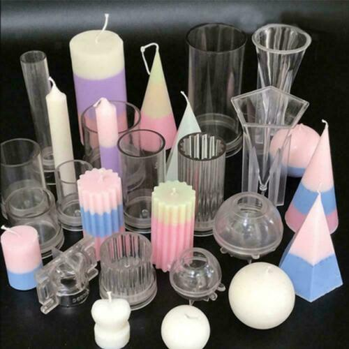 Soap Molds DIY Candle Molds Making Mold Handmade Sphere Pyramid Shape AU R5L7