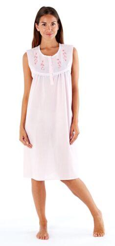 Femmes//Femme Elsa sans manches chemise de nuit en 2 Motifs et 4 tailles Nightwear
