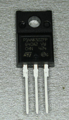 STP14NK50ZFP ST P14NK50ZFP Transistor N-CHN MOSFET 500V 14A 35W