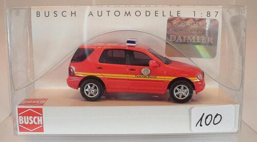 Busch 1//87 48545 mercedes benz clase m bomberos ciudad Bocholt OVP #100
