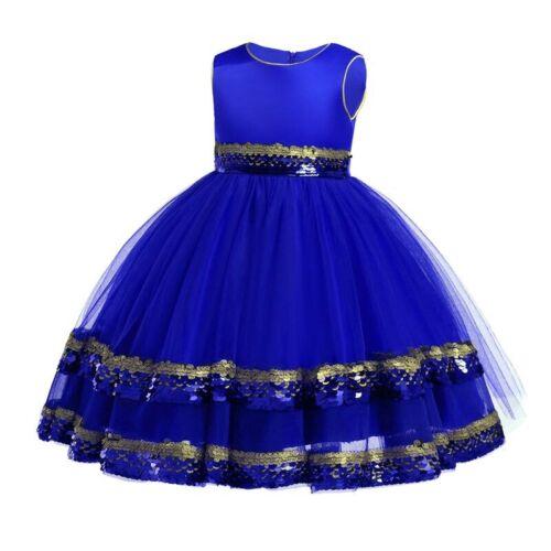 Kid Wedding Girl Dresses Tutu Flower Princess Bridesmaid Baby Party Formal Dress